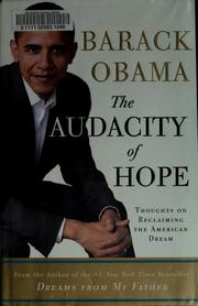 Cover of: The audacity of hope