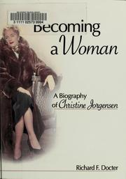 Becoming a woman by Richard F. Docter