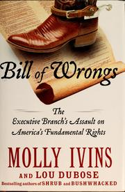 Cover of: Bill of wrongs