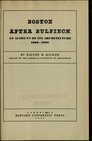 Cover of: Boston after Bulfinch