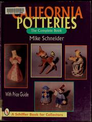 Cover of: California potteries