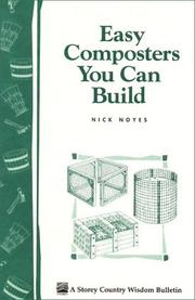 Cover of: Easy composters you can build