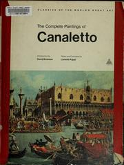 Cover of: The complete paintings of Canaletto