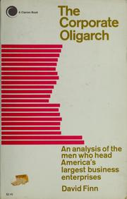 Cover of: The corporate oligarch
