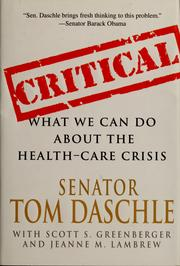 Critical by Thomas Daschle