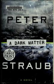 Cover of: A dark matter