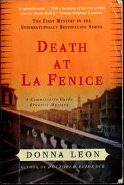 Cover of: Death at La Fenice