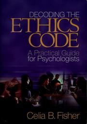 Cover of: Decoding the ethics code