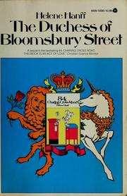 Cover of: The Duchess of Bloomsbury Street | Helene Hanff
