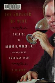 Cover of: The emperor of wine