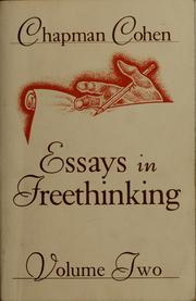 Cover of: Essays in freethinking | Chapman Cohen