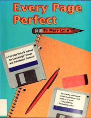 Cover of: Every page perfect | Mary Lynn
