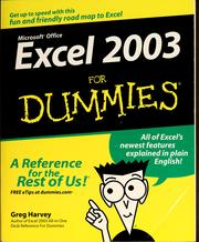 Cover of: Excel 2003 for dummies