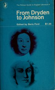 Cover of: From Dryden to Johnson | Boris Ford