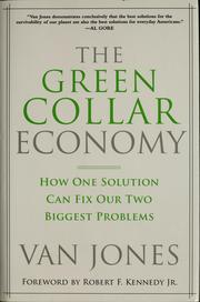 The green-collar economy by Van Jones