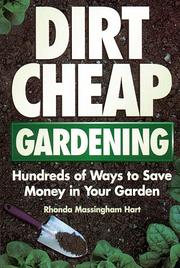 Cover of: Dirt-Cheap Gardening | Rhonda Massingham Hart