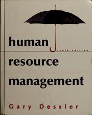 Cover of: Human resource management