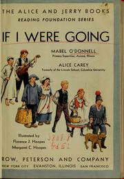 Cover of: If I were going | Mabel O