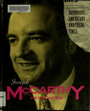 Cover of: Joseph McCarthy and the Cold War