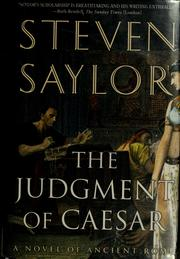 Cover of: The judgment of Caesar