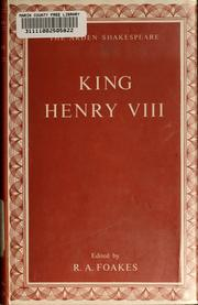 Cover of: King Henry VIII |