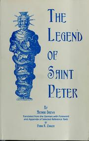Cover of: The legend of Saint Peter
