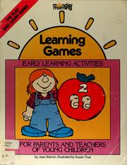 Cover of: Learning games | Jean Warren