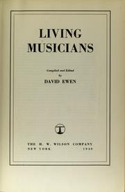 Cover of: Living musicians