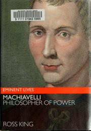 Cover of: Machiavelli | Ross King