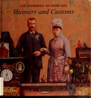 Cover of: Manners and customs