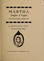 Cover of: Martha, daughter of Virginia | Marguerite Vance