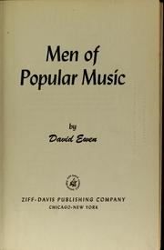 Cover of: Men of popular music