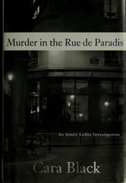 Cover of: Murder in the rue de Paradis | Cara Black