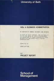 Cover of: UK university annual accounts and reports by Johan (John) Aaftink