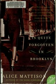 Cover of: Nothing is quite forgotten in Brooklyn