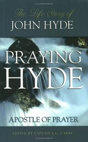Cover of: Praying Hyde | E. G. Carre