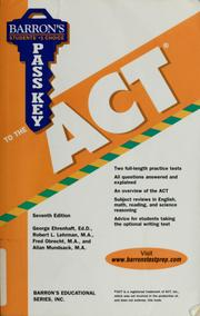 Cover of: Pass key to the ACT