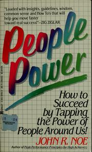 Cover of: People power | John R. Noe