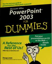 Cover of: PowerPoint 2003 for dummies