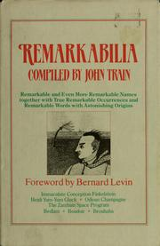 Cover of: Remarkabilia | John Train