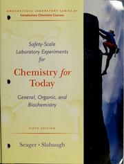 Cover of: Safety-scale laboratory experiments for Chemistry for today