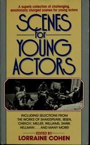Cover of: Scenes for young actors