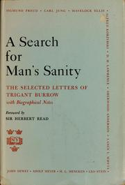 A search for man's sanity by Trigant Burrow