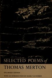 Cover of: Selected poems: With an introd. by Mark Van Doren.