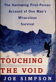 Cover of: Touching the void