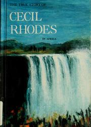 Cover of: The true book about Cecil Rhodes