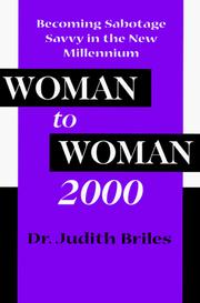 Cover of: Woman to woman 2000 | Judith Briles