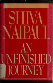 Cover of: An unfinished journey