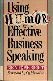 Cover of: Using humor for effective business speaking