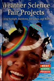 Cover of: Weather science fair projects